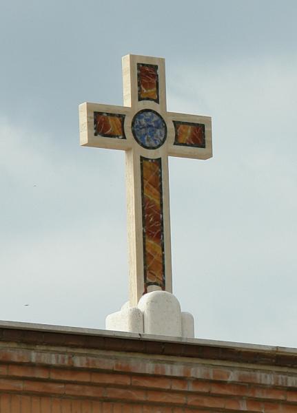 croce intarsiata marmi policromi
